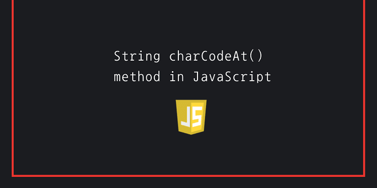 String charCodeAt() method in JavaScript