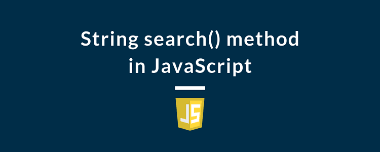 String search() method in JavaScript