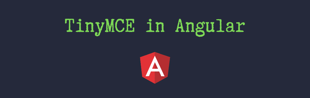 How to install TinyMCE in Angular