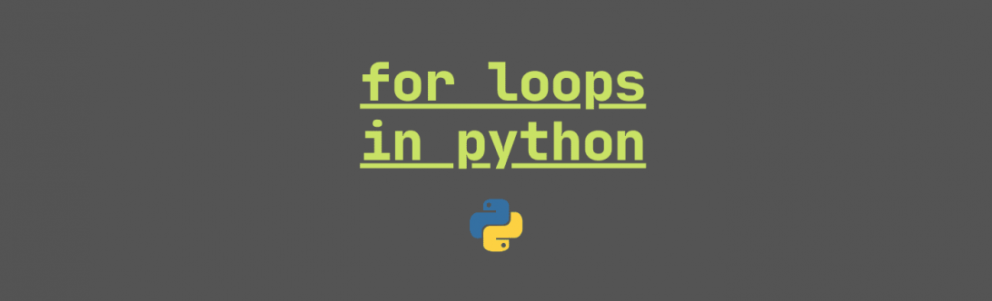 for loops in python