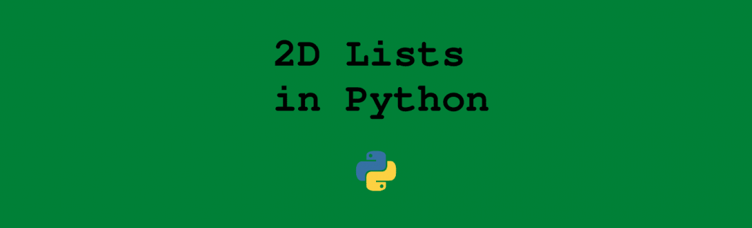 2D Lists in Python